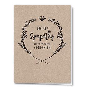 Pet Sympathy Cards - Lost Companion