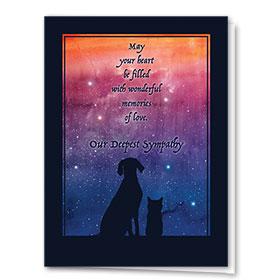 Pet Sympathy Cards - Sunset Galaxy