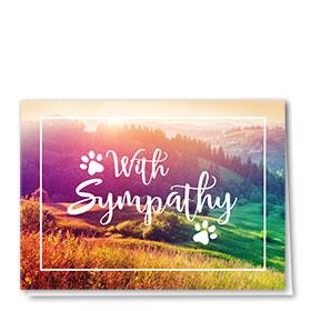 Pet Sympathy Cards - Rainbow Hills