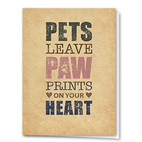 Pet Sympathy Cards - Pets Leave