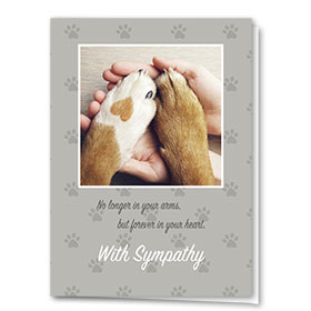 Dog Sympathy Cards - In Your Arms