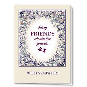 Pet Sympathy Cards - Plum Blossoms