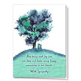 Pet Sympathy Cards - Hilltop