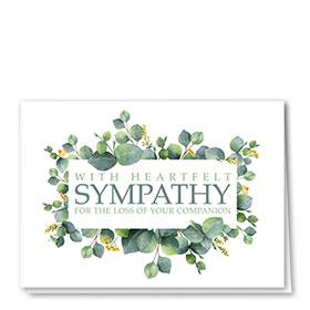Pet Sympathy Cards - Sympathy Greenery