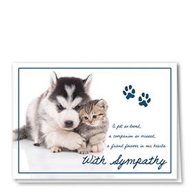 Pet Sympathy Cards - Together Forever