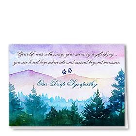 Pet Sympathy Cards - Purple Mountains