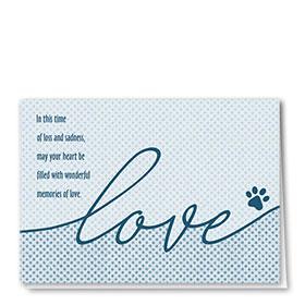 Pet Sympathy Cards - Love Dots