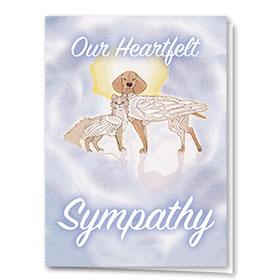 Pet Sympathy Cards - Heavenly Pair