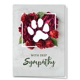 Pet Sympathy Cards - Rose Sympathy