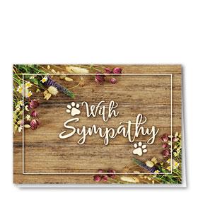 Pet Sympathy Cards - Rustic Sympathy
