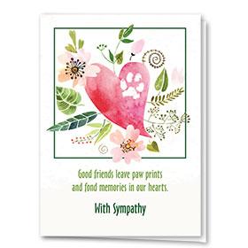 Pet Sympathy Cards - Soft Heart
