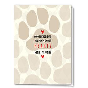 Pet Sympathy Cards - Good Paws