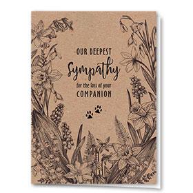 Pet Sympathy Cards - Daffodils