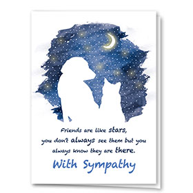 Pet Sympathy Cards - Moon and Stars