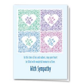 Pet Sympathy Cards - Four Square