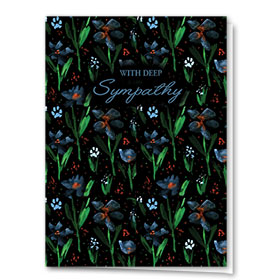 Pet Sympathy Cards - Dark Floral