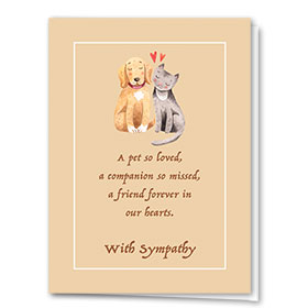 Pet Sympathy Cards - Precious Pets