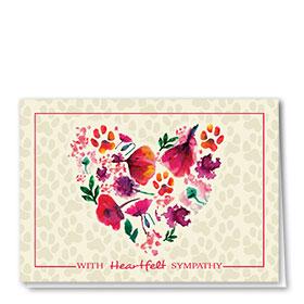 Pet Sympathy Cards - Heartfelt Petals