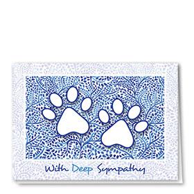 Pet Sympathy Cards - Blue Lines