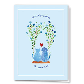 Pet Sympathy Cards - Garden Swing