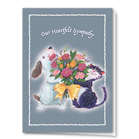 Pet Sympathy Cards - Yellow Bow