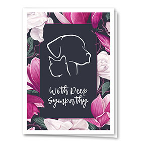 Pet Sympathy Cards - Magnolia Petals