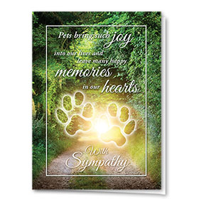 Pet Sympathy Cards - Memory Lane