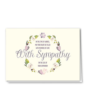 Pet Sympathy Cards - Delicate Words