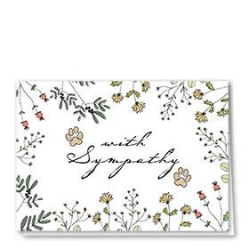 Pet Sympathy Cards - Tender Words