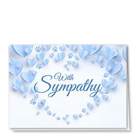 Pet Sympathy Cards - Paper Hearts