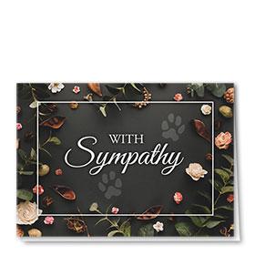 Pet Sympathy Cards - Rose Buds