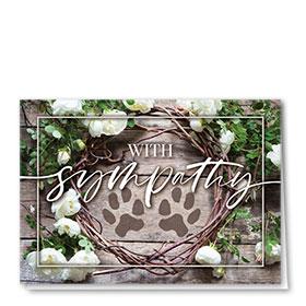 Pet Sympathy Cards - White Roses