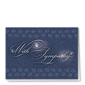 Premium Foil Pet Sympathy Cards - Sympathy Tidings