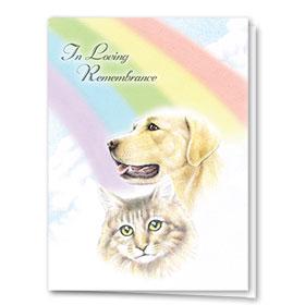 Premium Foil Sympathy Card-Rainbow Remembrance