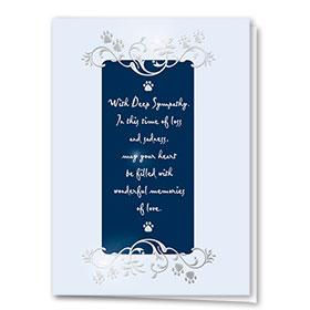 Premium Foil Sympathy Card-Embellished Sympathy