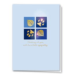 Premium Foil Sympathy Card-Paws & Leaves
