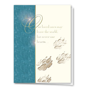 Premium Foil Pet Sympathy Cards - Loved Ones Leave