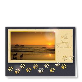 Premium Foil Sympathy Card-Last Sunset