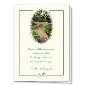 Premium Foil Sympathy Card-Heaven's Path