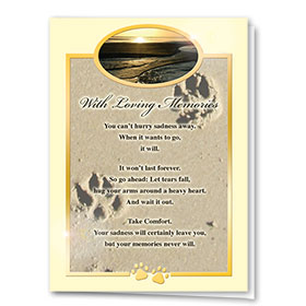 Premium Foil Pet Sympathy Cards - Loving Memories