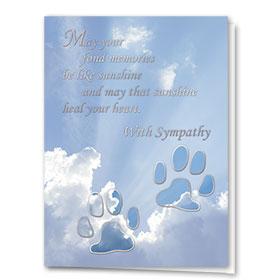 Premium Foil Sympathy Card-Clouds & Paws