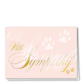Premium Foil Pet Sympathy Cards - Sweet Sympathy