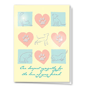 Premium Foil Pet Sympathy Cards - Lost Friend