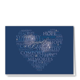 Premium Foil Pet Sympathy Cards - Comforting Words