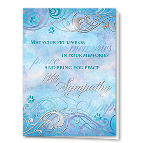 Premium Foil Pet Sympathy Cards - Layers of Memory
