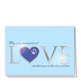 Premium Foil Pet Sympathy Cards - Silver Lining