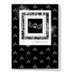 Premium Foil Pet Sympathy Cards - Silver Wings