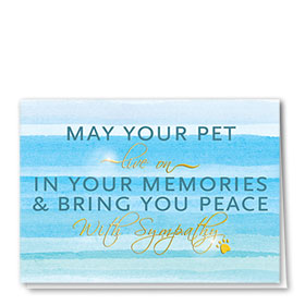 Premium Foil Pet Sympathy Cards - Live On