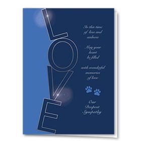 Premium Foil Pet Sympathy Cards - Silver Letters