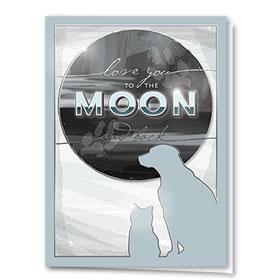 Premium Foil Pet Sympathy Cards - To the Moon